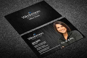 Windermere real estate business cards free shipping blue accent windermere business card template flashek Image collections