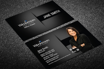 Windermere real estate business cards free shipping black silver windermere business card template fbccfo Choice Image