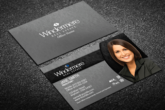 Windermere real estate business cards free shipping black silver windermere business card template reheart Image collections