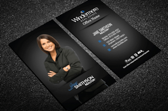 Windermere real estate business cards free shipping vertical windermere business card silver sparkles reheart Images