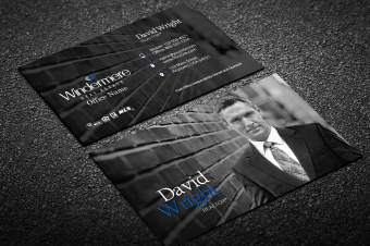 modern white windermere business card - Modern Real Estate Business Cards